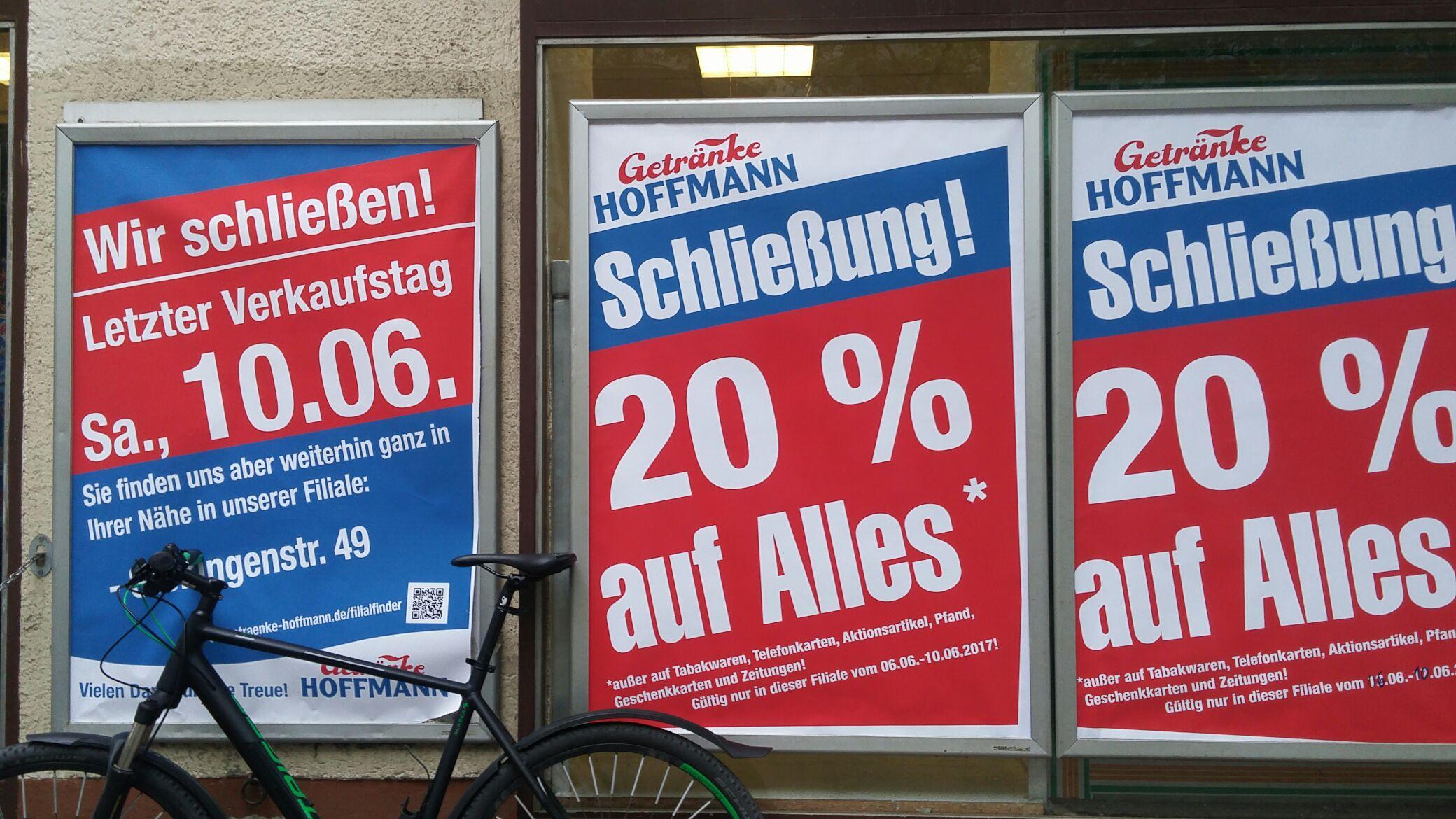 [Lokal Berlin] 20% auf alles bei Getränke Hoffmann Kaiserin-Augusta-Allee 88 (Mierendorffkiez)