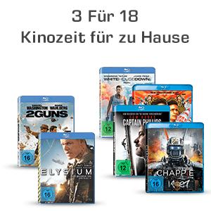 3 Blu-rays für 18€ z.B, Bad Boys II (exklusives Steelbook 4K Mastered) (Blu-ray), Kampfstern Galactica - Der Pilotfilm (Steelbook Edition) (Blu-ray), Constantine (Exklusive Steelbook Edition) (Blu-ray) uvm. (Saturn)