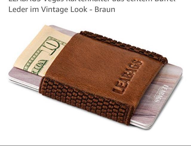 Kartenhalter von Leabags aus echtem Leder für 2€ statt 17,99€ (mit Prime)
