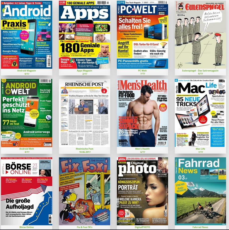 Zeitschriften und Zeitungen kostenlos lesen (Android, iOS, Browser)