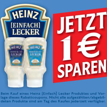 Heinz Einfach Lecker Mayonnaise für 0,19€ mit Coupon [Real]