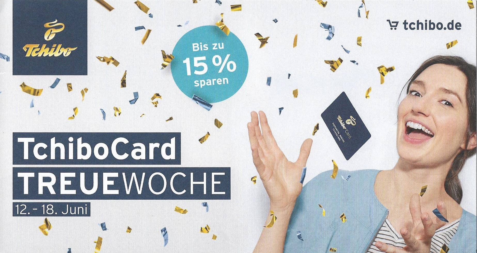 [Tchibo] Bis zu 15 % Rabatt bei Online-Einkauf oder in der Filiale mit TchiboCard (12.06 - 18.06)
