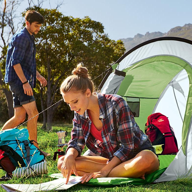 Camping / Festival Angebote ab 12.06 @LIDL on- & offline, z.B. Schlafsack für 15.99€, Wurfzelt für 25,99€