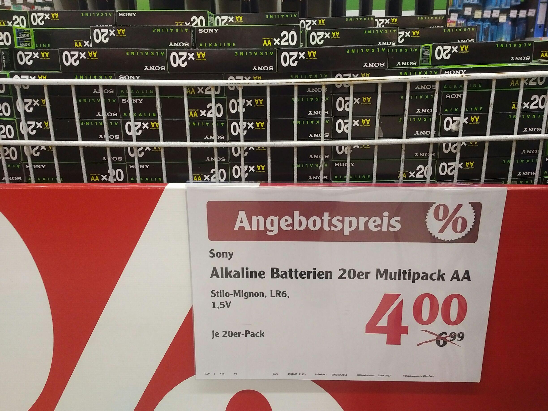 [Lokal Globus Forchheim] 20x Sony AA Batterien 4,00 EUR