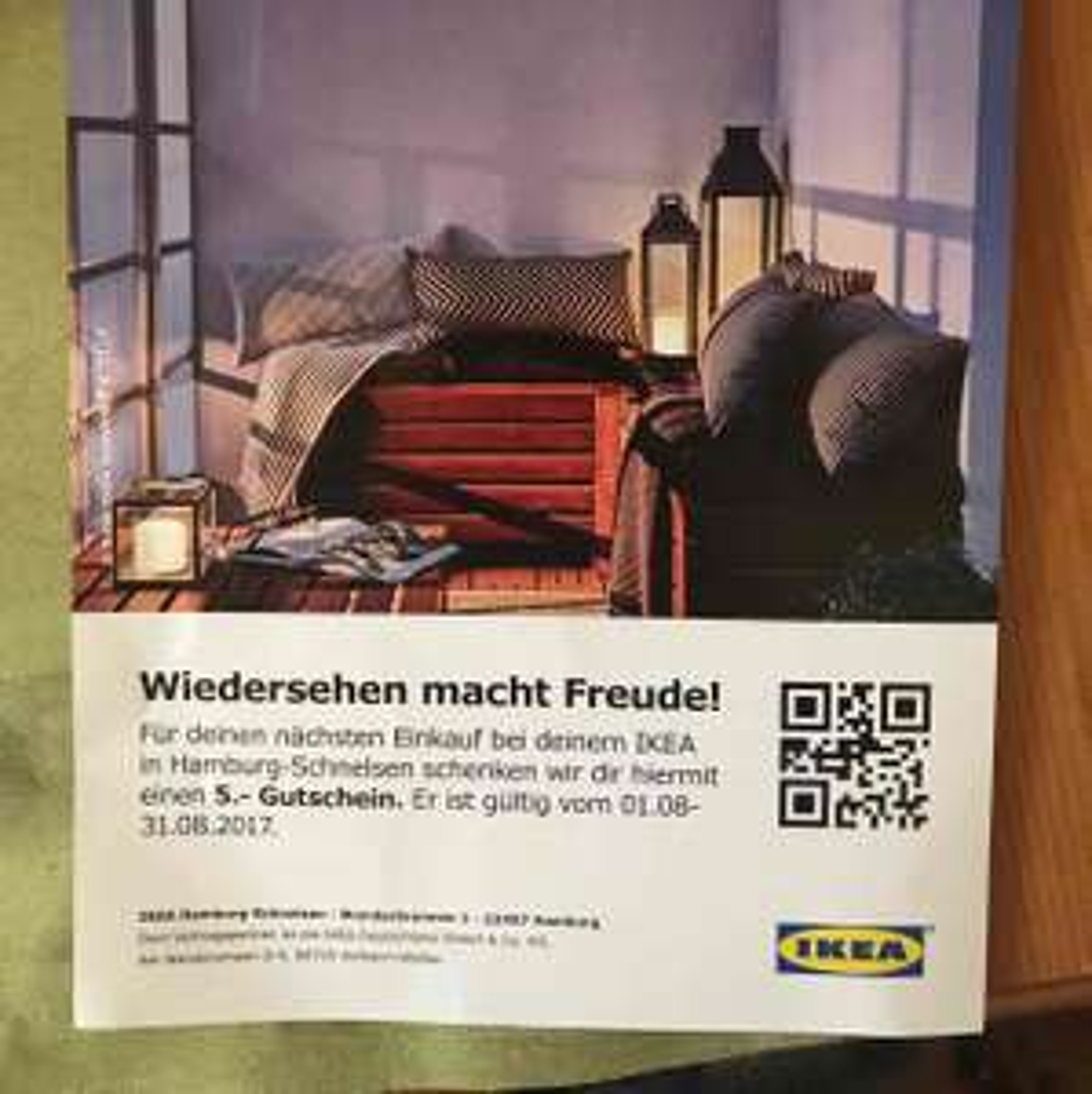 [ Lokal Ikea Hamburg Schnelsen ] 5€ Gutscheine für alle / gratis Artikel möglich !