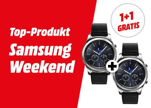 2 Stück SAMSUNG Smartwatch Gear S3 Classic (SM-R770NZSAATO) für 379€ [mediamarkt.at]