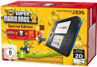 [Mediamarkt] NINTENDO 2DS Schwarz/Blau + New Super Mario Bros. 2 (Special Edition) für 76,-€ Versandkostenfrei
