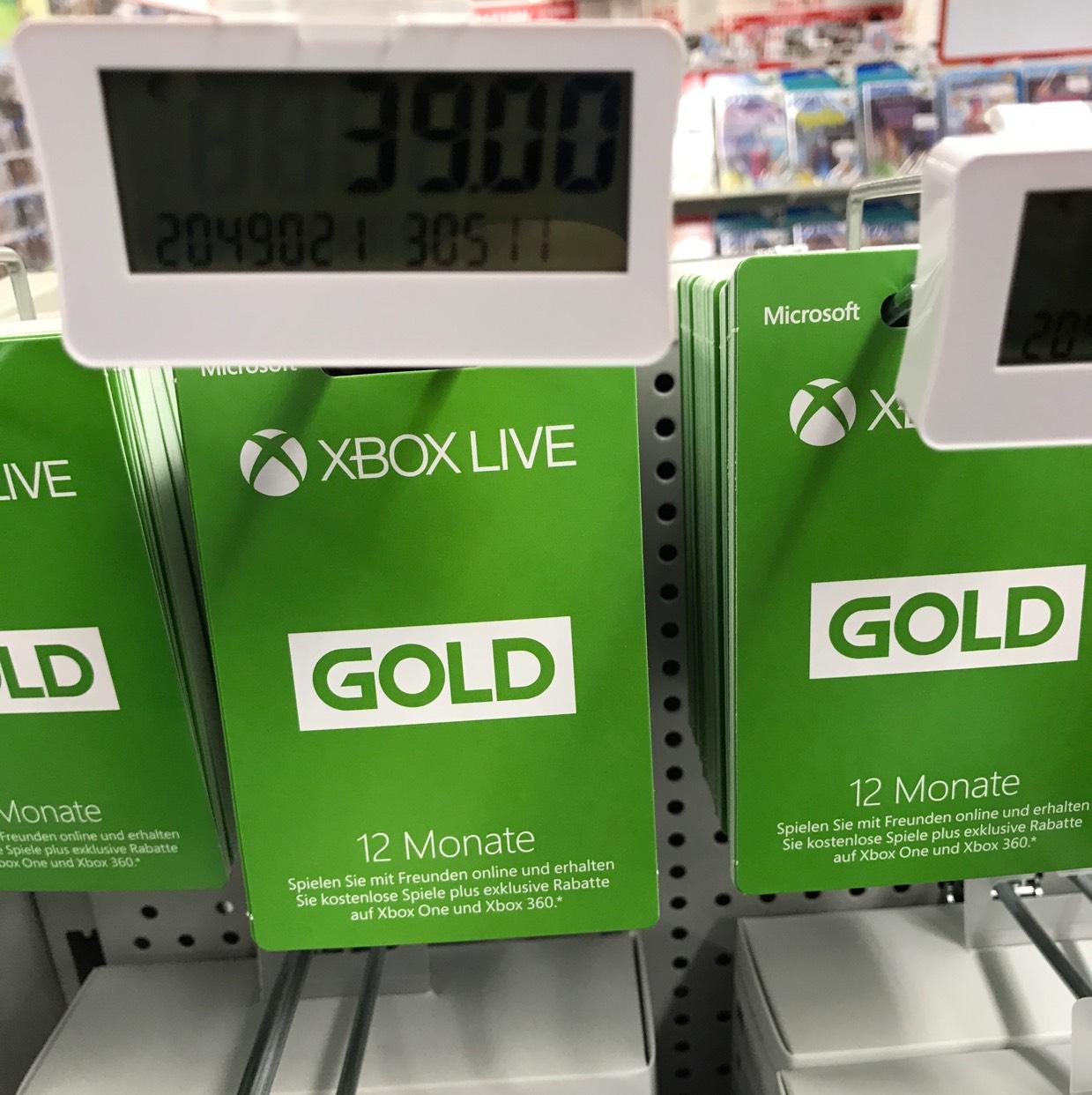 Xbox Live 12 Monate - Media Markt (ggf Bundesweit?!)