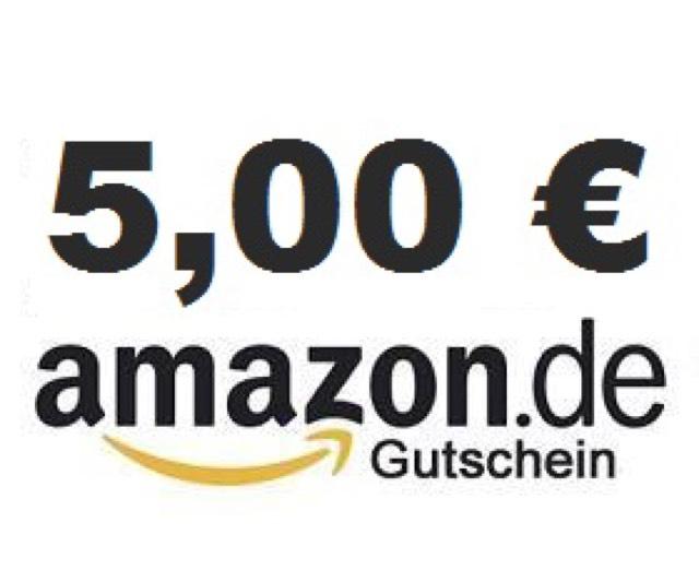 5€ Gutschein Amazon für 100€ Kontoaufladung