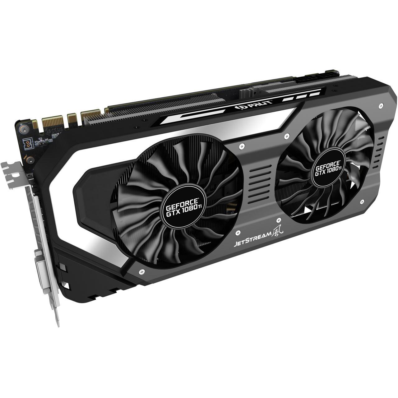 11GB Palit GeForce GTX 1080 Ti JetStream Aktiv PCIe 3.0 x16 (Retail) (Mindfactory(Mindstar))