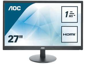 "[Saturn] AOC E2770SH, 27"" Full-HD Monitor, 1 ms, 300cd/m², TN für 149 incl. VSK"