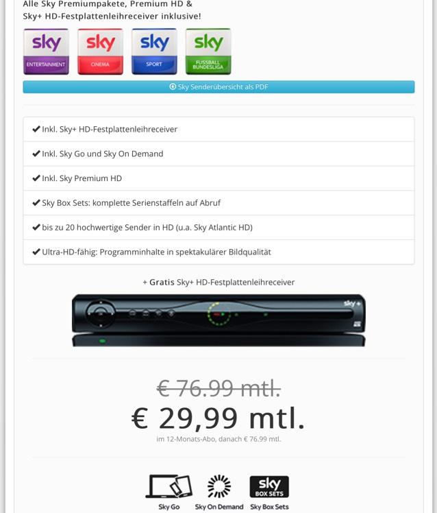 SKY komplett inkl. Premium HD für alle Angestellten im öffentlichen Dienst