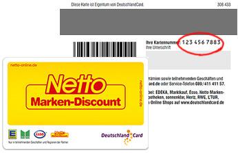 1€ geschenkt für Deutschlandcard Anmeldung