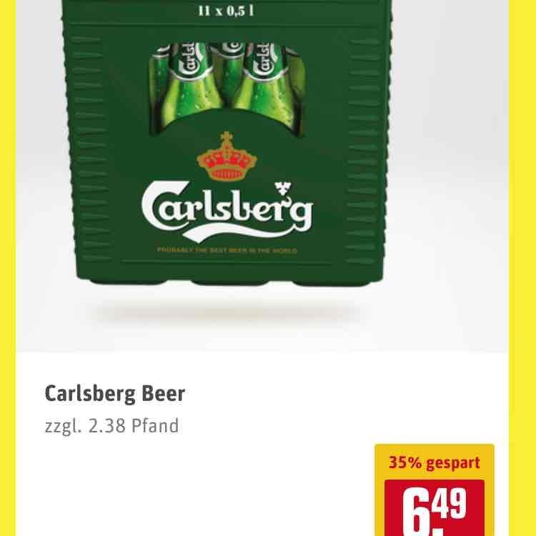11er Kasten Carlsberg Beer bei Rewe