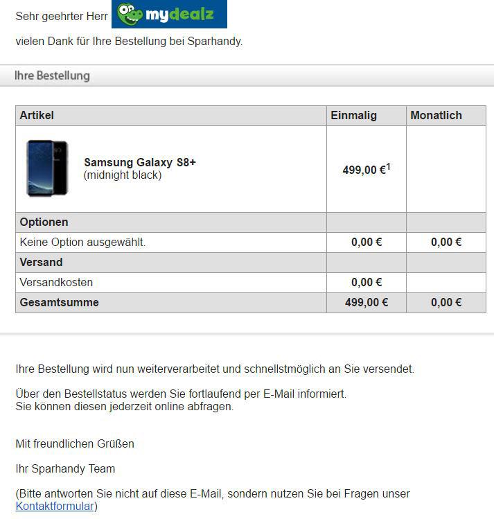 Galaxy S8 für 399 Euro, Galaxy S8+ für 499 Euro [Preis-/Gutscheinfehler]