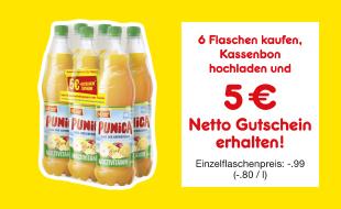 NETTO: 6 Flaschen Punica + 5€ Gutschein für 5,94, OHNE HUND, 1 x Pro Haushalt.
