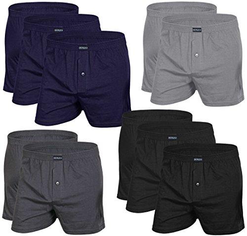 Amazon-Tagesangebot: DONZO Herren Boxershorts American Style atmungsaktiv mit Vordereingriff, 10er Pack in verschiedenen Farben @ 27 Euro inkl. Versand