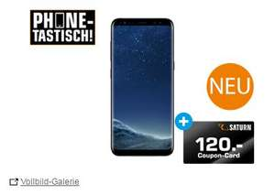 SAMSUNG Galaxy S8, 64 GB, 5.8 Zoll, Midnight Black -120€ auf Saturn