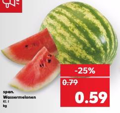 Spanische Wassermelonen für nur 0,59€ pro Kilo bei Kaufland (12.-14.06.17)