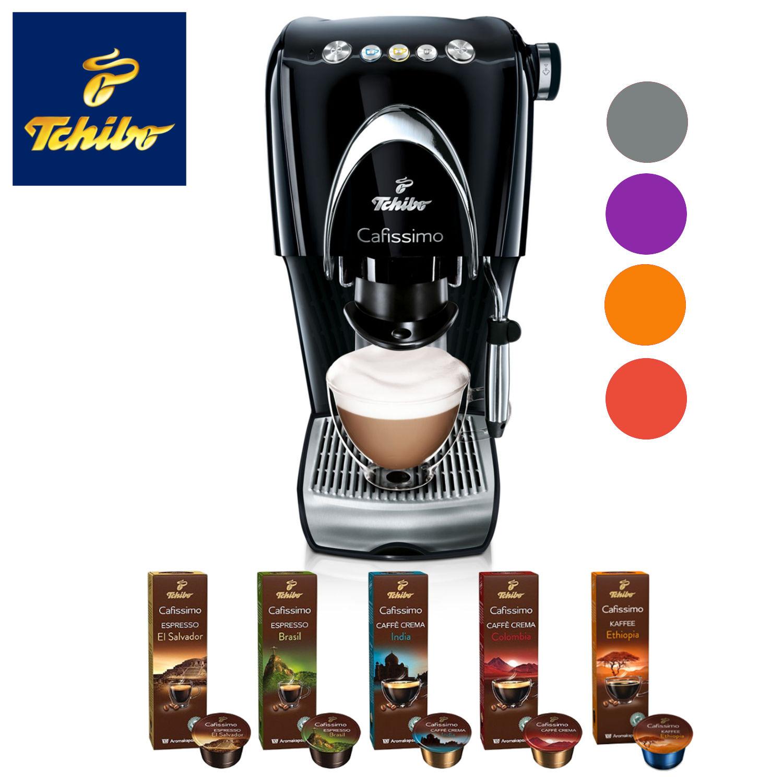 Tchibo Cafissimo CLASSIC Kapselmaschine + 100 Kapseln in 5 FARBEN NEU 100 Kapseln Espresso + Caffé Crema + Filterkaffee