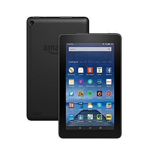 Fire-Tablet, 17,7 cm (7 Zoll) Display, WLAN, 8 GB (Schwarz) + 1€ Amazon Video Gutschein [Amazon Tagesangebot]