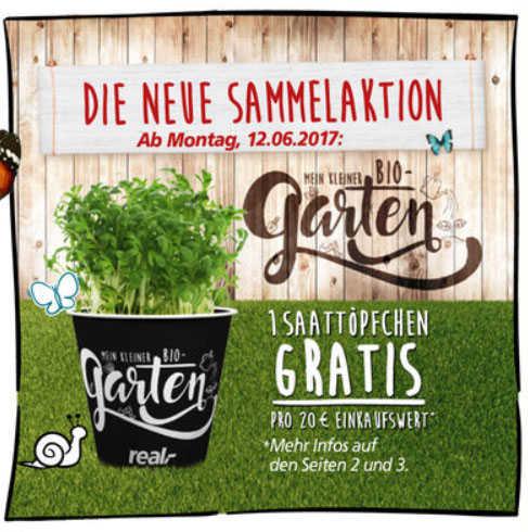 [Real] 1 Saattöpfchen gratis pro 20€ Einkaufswert - 16 verschiedene Pflanzen zur Auswahl