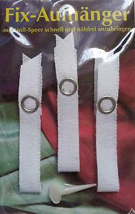 30 (10x3 Stück) Fix-Aufhänger Handtuchaufhänger weiss nähfrei