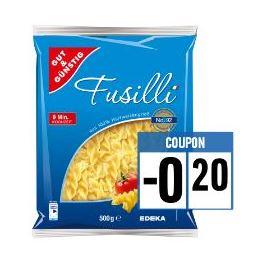 [Edeka, nur Filialen, welche die Edeka-App akzeptieren] Gut & Günstig Fusilli Nudeln 500g für 0,19€
