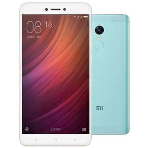 Xiaomi Redmi Note 4 LTE + Dual-SIM global - mit BAND 20 - 5,5'' FHD IPS, Snapdragon 625 Octacore, 3GB RAM, 32GB eMMC, 13MP + 5MP Kamera, 4100mAh, Android 6..  - blue green [Gearbest]
