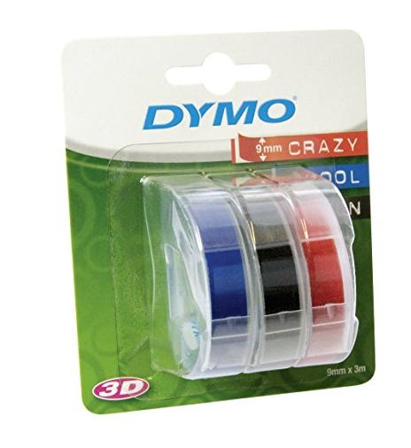 WHD Amazon Dymo S0847750 Prägeband (0,9 cm) rot/schwarz/blau, Ersparnis ca. 42%