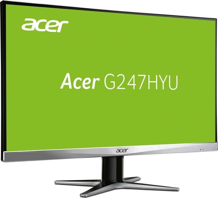"ACER G247HYUsmidp Monitor - 23,8"" WQHD (2560x1440), IPS, Zero-Frame, 100%sRGB, DVI/HDMI/DP @ Cyberport"