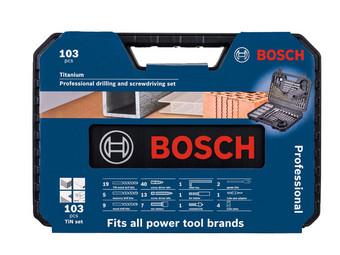 Bosch Bohrer- & Bit-Satz   103-teilig incl. Versand 5€ billiger!