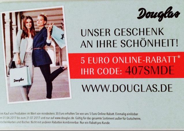 [Douglas] 5,-€ Rabatt bei 30,-€ MBW