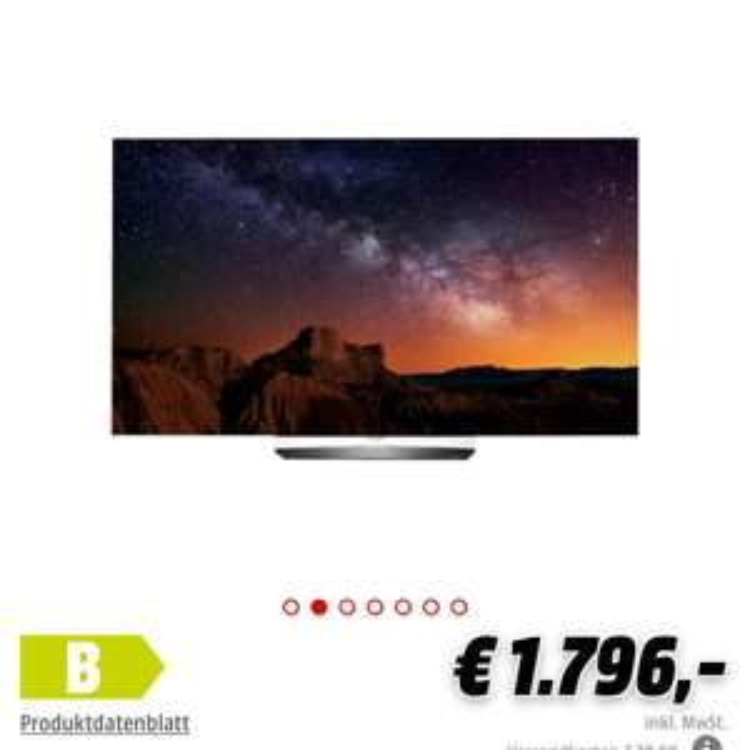 [Media Markt Online] LG OLED55B6D UHD Triple Tuner Dolby Vision HDR (55Zoll)