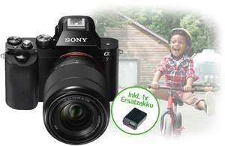 [Grenzgänger Schweiz] Sony Alpha 7 im Kit mit 28-70mm-Zoomobjektiv und Zusatzakku