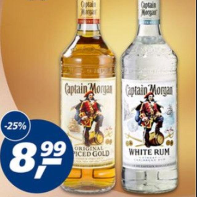 [REAL] Captain Morgan Spiced oder White je 8,99