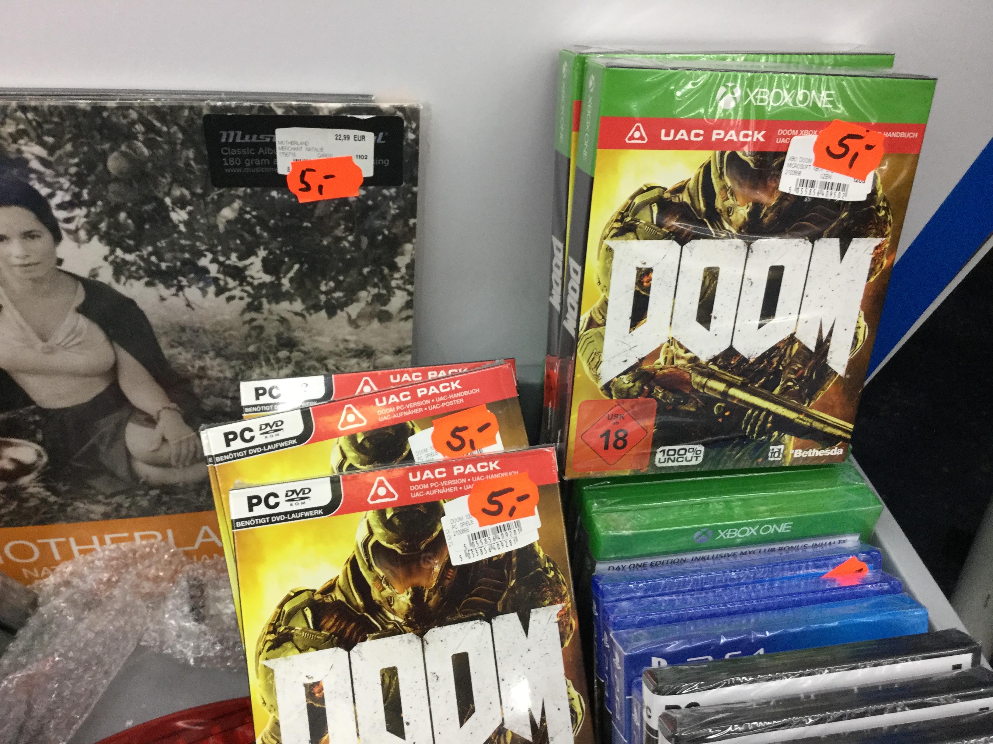 [Lokal Witten] Doom UACPack für Xbox One & PC nur je 5€ im Saturn Witten