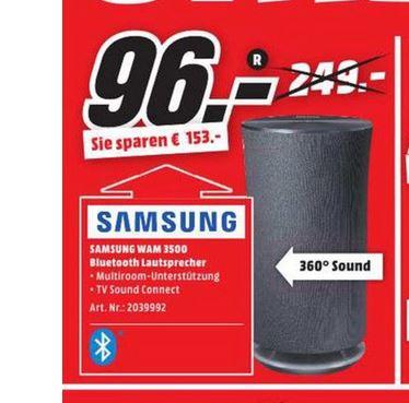 [Lokal - Media Markt Wiesbaden-Hasengarten] Samsung R3 WAM3500 Lautsprecher schwarz für 96€