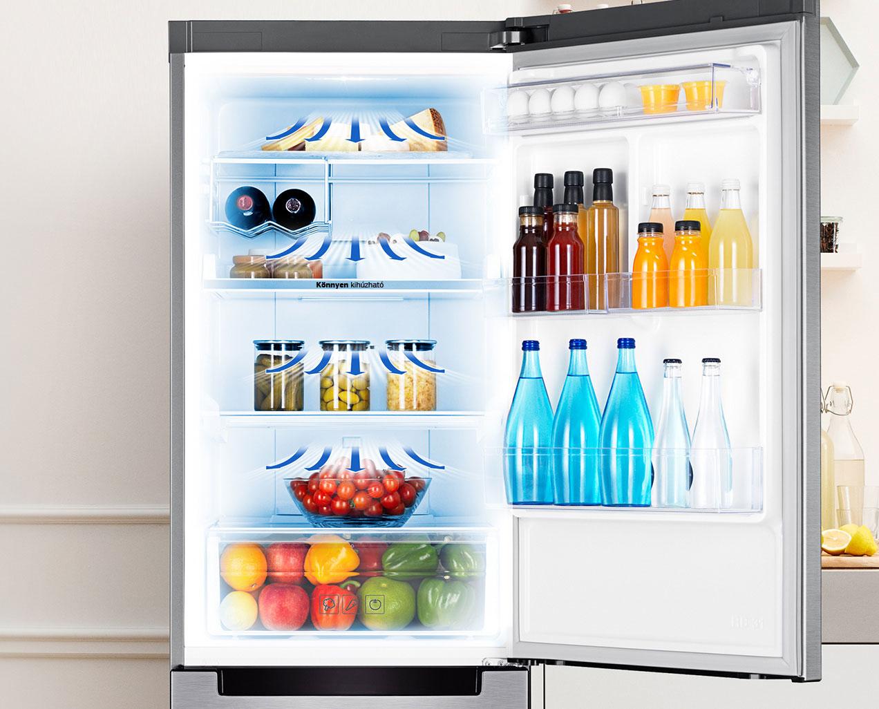 Samsung Kühl-/Gefrierkombination 367l mit extra dünnen Außenwänden, Digital Inverter Kompressor, Total NoFrost und Multi AirFlow