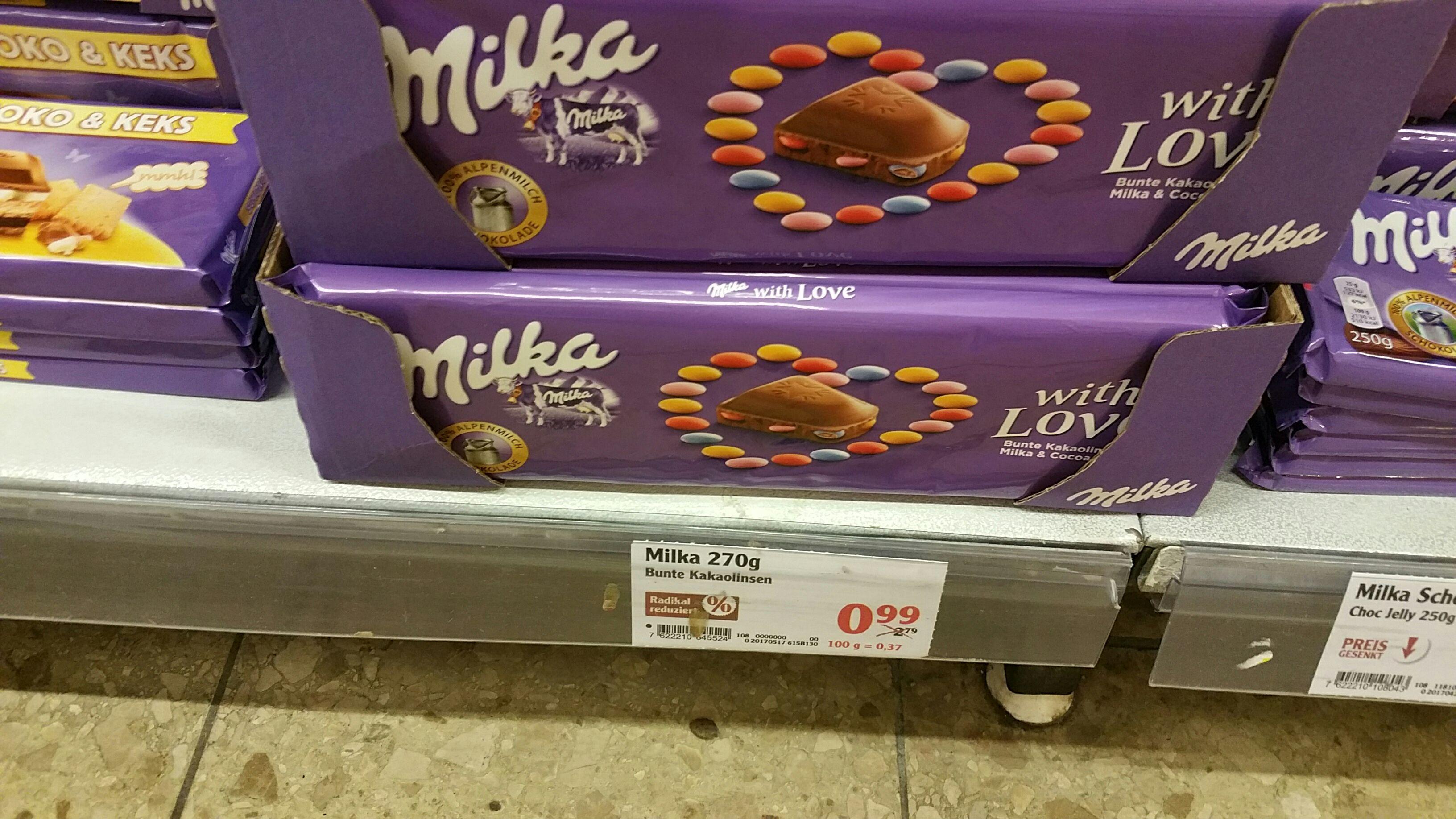Milka Schokolade Bunte Kakaolinse 270g Globus Völklingen