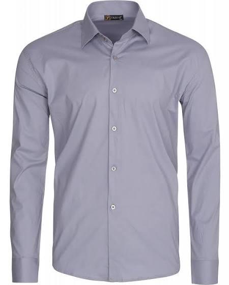 Outlet46 Tazzio Fashion Formal Herren Langarm-Hemd Oberhemd