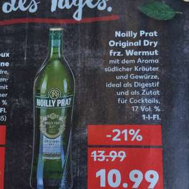 Kaufland: Noilly Prat Dry - Wermut 1 Liter