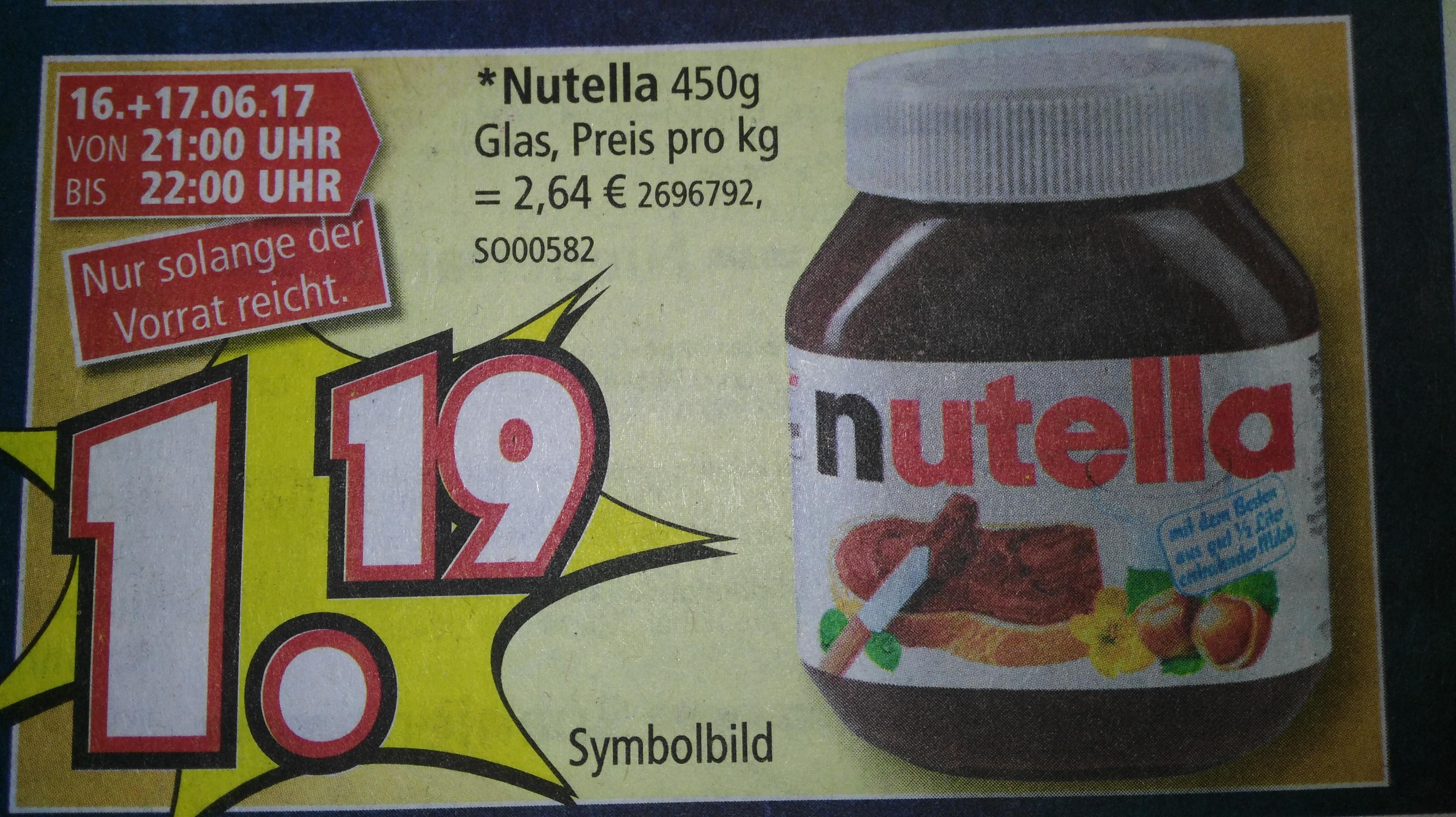[lokal Pulheim, nahe Köln] Nutella im 450 g- Glas für 1,19€ und weitere Aktionen bei Segmüller