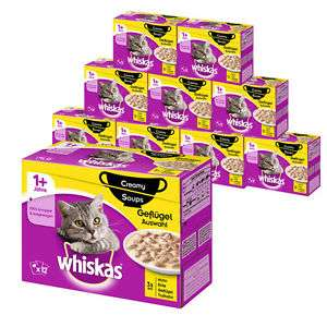 Whiskas 120er Mega-Multipack Katzenfutter in verschiedenen Sorten für EUR 29,99 (PVG bei Idealo ab ca. EUR 34,99)