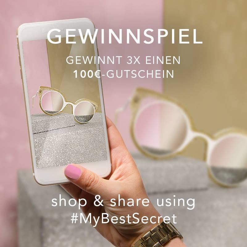 [BestSecret] Gewinnspiele: aktuell 100 € Gutschein über Instagram gewinnen