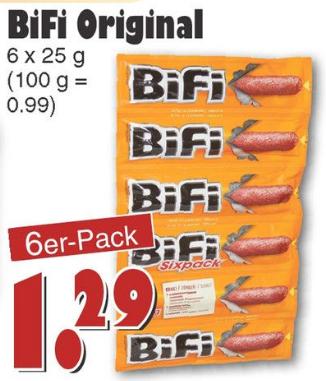 [JAWOLL] Bifi 6er Pack für 1,29€ | Offline