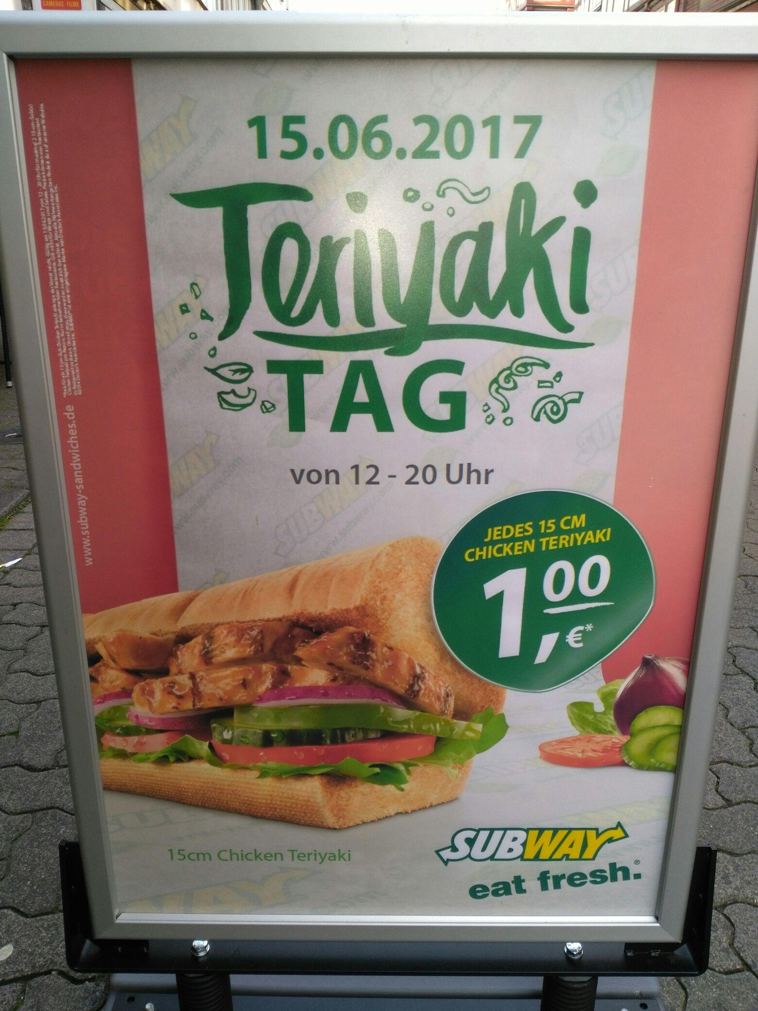 Subway Chicken Teriyaki für 1 € in Hann. Münden