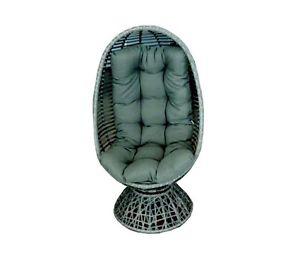 Drehsessel mit pulverbeschichtetem Stahlgestell & Rückenkissen bei ebay