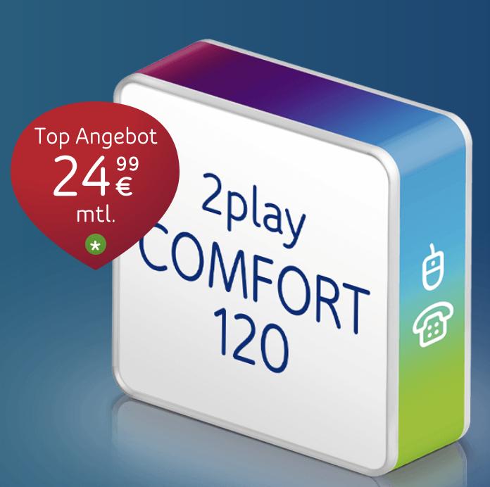 Unitymedia: 60€ Amazon.de-Gutschein* + 200€ Cashback auf 2Play Comfort 120 Tarif – nur 17,49€ monatlich!