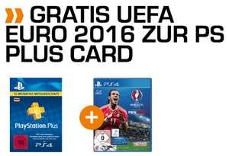 PS Plus 12 Monate  + PES UEFA Euro 2016 für 34.99
